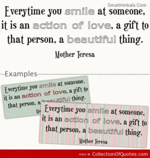 Everytime You Smile At Someone It Is An Action Of Love A Gift To That ...