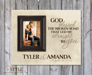 ... Family Name Signs Personalized Picture Frame with Family Name & Quote