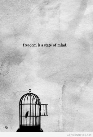 Cute freedom quote with art
