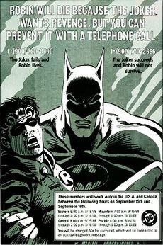 Promotional image from DC Comics, allowing readers to decide the fate ...