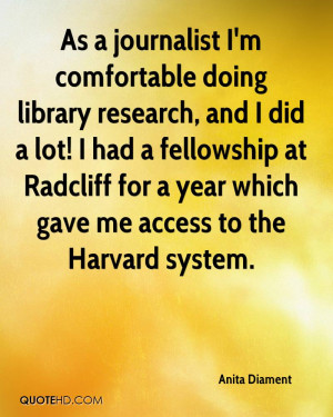 As a journalist I'm comfortable doing library research, and I did a ...
