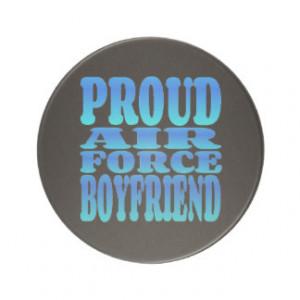Proud Air Force Boyfriend in Blue Coasters
