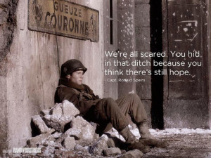... think there's hope. Lt. Spiers. Matthew Settle. HBO Band of Brothers