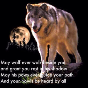 Wolf and moon for my thomas...