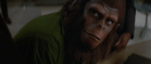 Roddy McDowall in Conquest of the Planet of the Apes (1972)