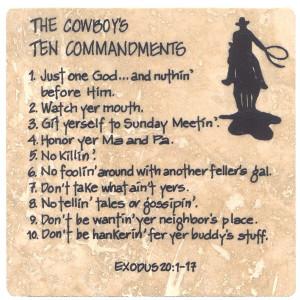 The Cowboy's Ten Commandments
