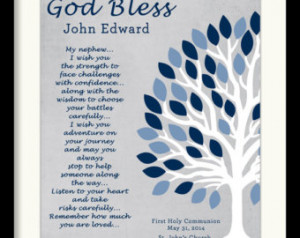 Communion Gift for Nephew, Personalized Nephew Gift, Baptism Gift ...