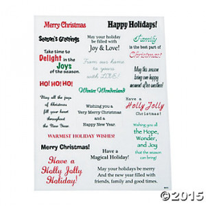 Christmas Card Stickers