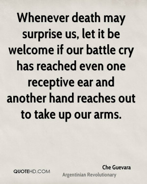 ... one receptive ear and another hand reaches out to take up our arms