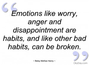 emotions like worry