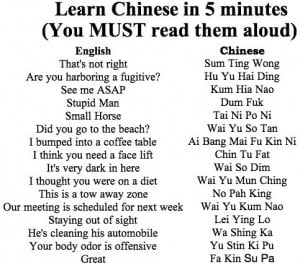 Learn to Speak Chinese in 5 minutes