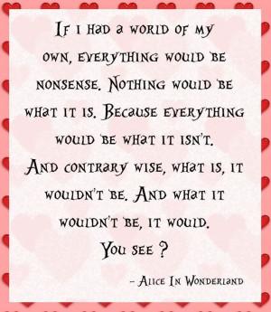 alice in wonderland love alice in wonderland quotes alice in ...