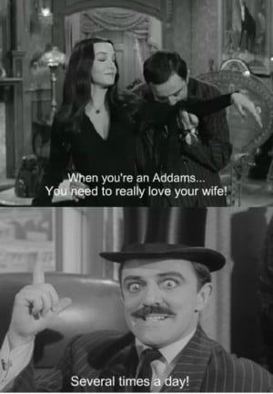 Morticia And Gomez Addams Love