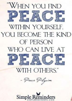 Hippie Peace Quotes Peace quote via hippie peace