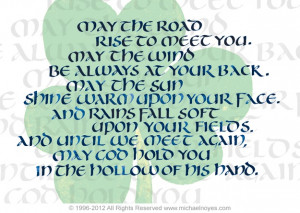 Irish Blessing, Calligraphy Art Plaques & Inspirational Gifts by ...