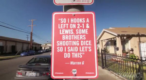Artist Jay Shells Posts Famous Rap Quotes around Los Angeles
