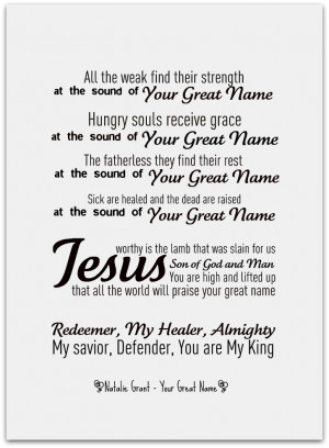 Your Great Name - Natalie Grant!!!!