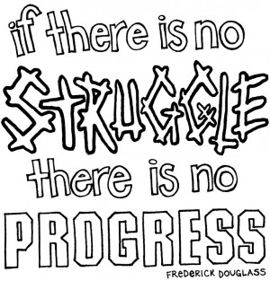 Coloring Page - F. Douglass Quote title=
