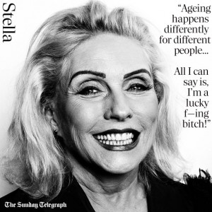 Above: Debbie Harry quote from a new interview with The Telegraph's ...