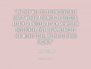 And they will tell you unequivocally that if we have a chemical or ...