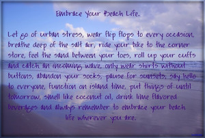 embrace your beach life