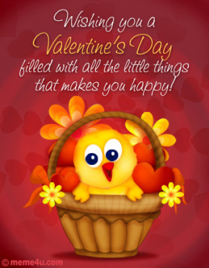 ... cute postcard for all your friends to wish them a very happy valentine