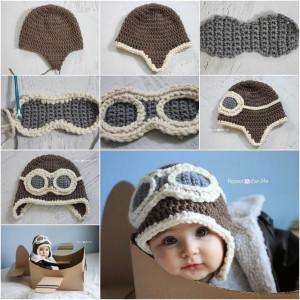 Crochet DIY Aviator Hat