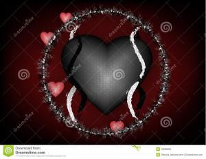 Gothic Love Hearts Gothic love background, black