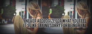 Real Quotes About Apology Facebook Cover Photo