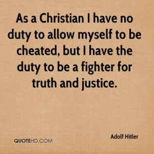 Hitler Quotes About Christianity