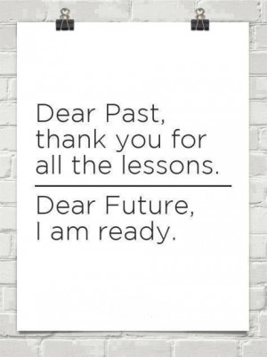 We learn from our past so we can stop making the same mistakes!