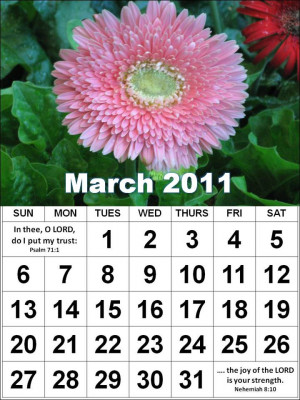 February Quotes And Sayings For Calendars Christian march 2011 ...