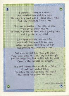 teacher parent poem more parents communication schools poems schools ...