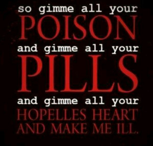 my chemical romance lyrics for thank you for the venom