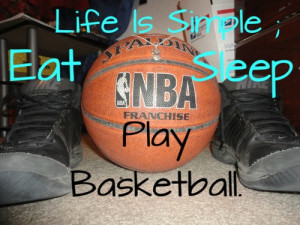 Basketball, quotes, sayings, life is simple, play