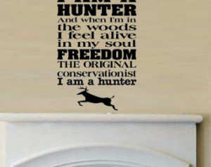 wall decal - Hunter moto - hunting quote ...