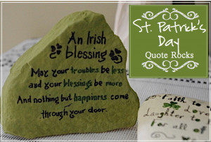 St. Patrick's Day Quote Rocks