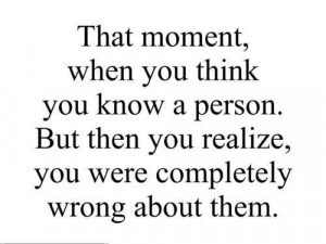 You think you know someone,