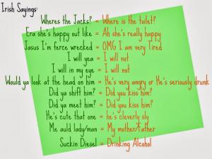 Irish Sayings About Life...