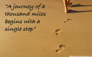 journey of a thousand miles begins with a single step, Lao Tzu quote