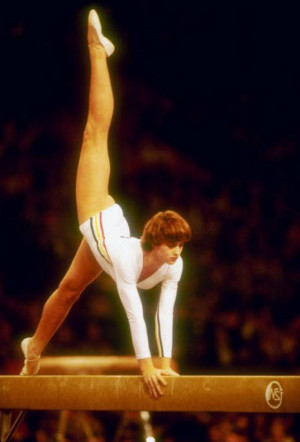 Nadia Comaneci. Photo Credit: © Tony Duffy / Getty Images