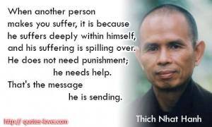 Help those that hurt you!