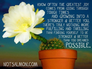 Know often the Greatest Joy comes from going through tough times and ...