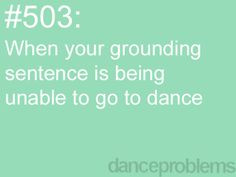 Dance Problems More