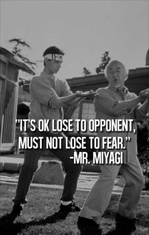 Funny Thing, Meme Of The Karate Kid Mr. Miyagi Quotes Pinterest: The ...