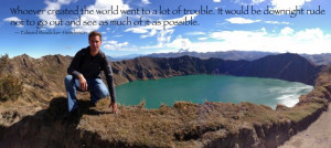 Michael Burr Quilotoa Crater Lake Quote