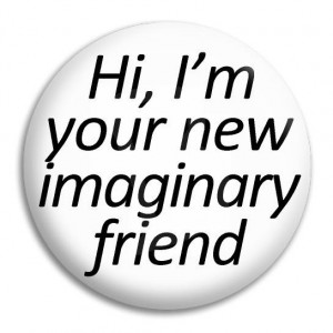Home Hi I'm Your New Imaginary Friend Button Badge