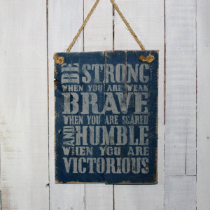 Rustic Wood Quote Sign - Hand Painted on Reclaimed Pallet Boards ...