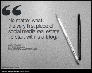 chris brogan quote about the importance of blogs