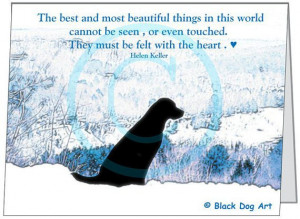 Labrador Quote card - on top Winter Mountains 51/2 x 4 1/4 greeting ...